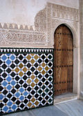 Islamic art and architecture in Alhambra — Stock Photo
