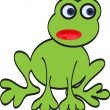 Green vector frog — Stock Vector