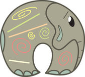 Pretty vector elephant — Stock Vector
