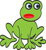 Green vector frog — Stock Vector