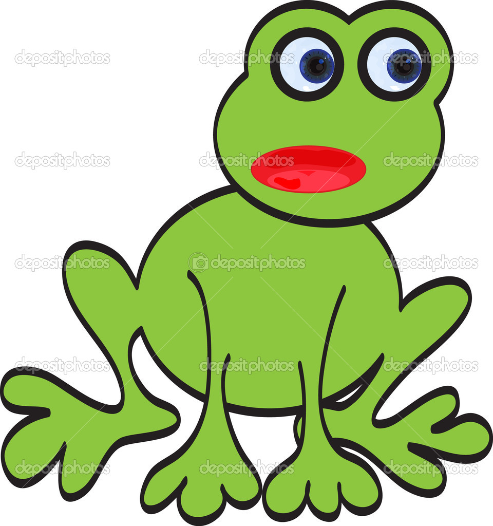 Illustration of a cute scared frog — Stock Vector #4989719