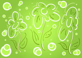 Floral vector spring background — Stock Vector