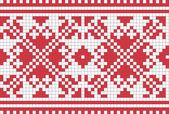 Ethnic Ukrainian ornamental pattern #6 — Stok Vektör