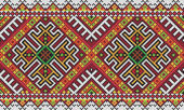 Ukrainian ethnic seamless ornament, #27, vector — Stok Vektör