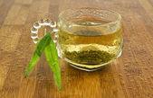 Refreshing Natural Green Tea — Stock Photo