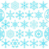 Set of decorative snowflakes, vector — Stock Vector
