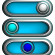 Royalty-Free Stock Vector Image: 3d buttons, vector
