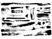 Set of brush strokes, stains, splashes, vector — Stock Vector