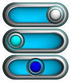 3d buttons, vector — Stock Vector