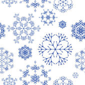Seamless pattern, snowflakes — Stock Vector