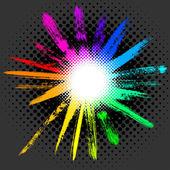 Colorful vector sun — Stock Vector
