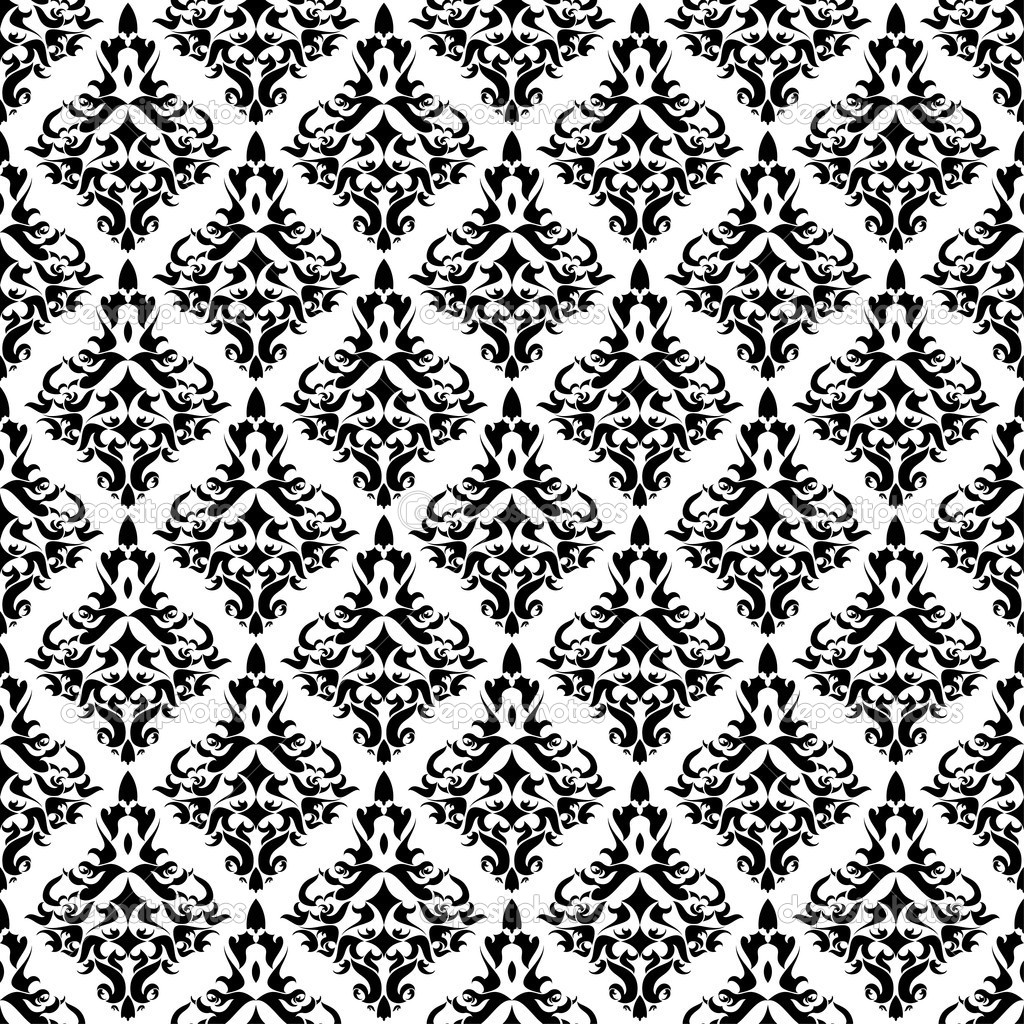 Vintage damask wallpaper , vector seamless pattern — Stock Vector #5337005