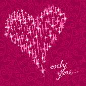 情人节贺卡、 矢量、 浪漫的心 — 图库矢量图片