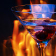Glass over fire traces — Stock Photo #4721934