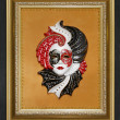 Venice mask in the frame — Stock Photo