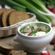 Cold vegetable kefir soup - Stock Photo