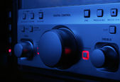 Hi-fi's control panel close up — Stock Photo