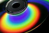 Rainbow on the CD surface — Stock Photo