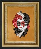 Venice mask in the frame — ストック写真