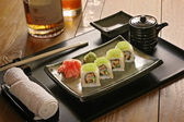 Still life: Sushi on a plate — Stock Photo