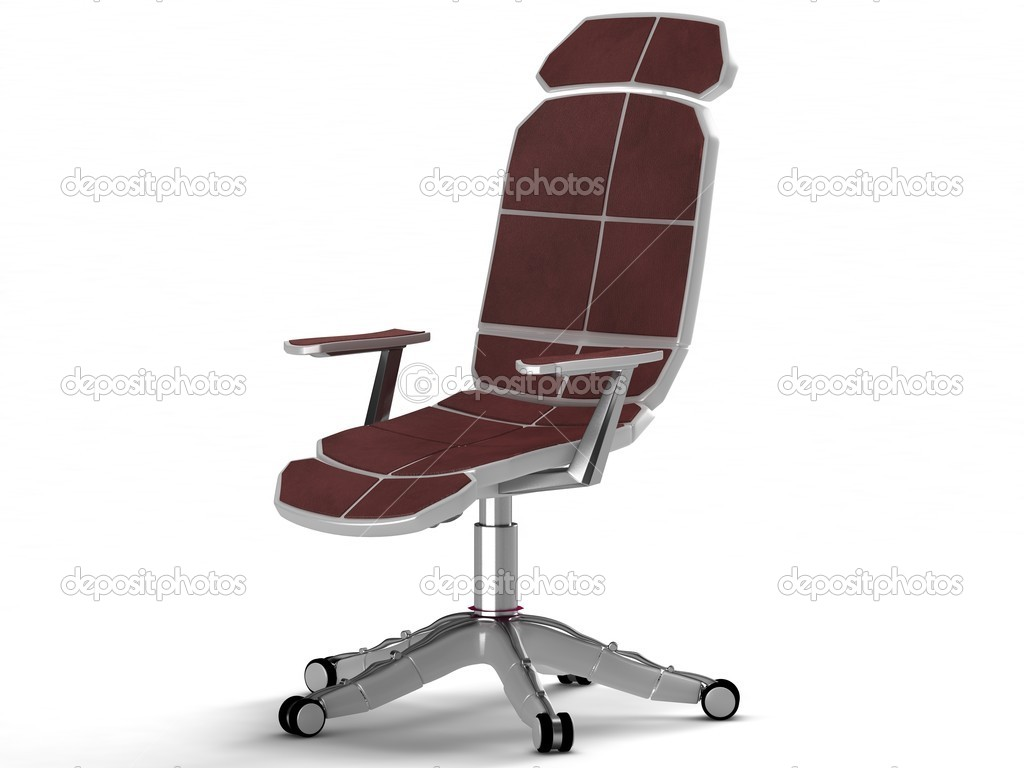 Computer chair in the high-tech style. On a white background.  Stock Photo #4683379