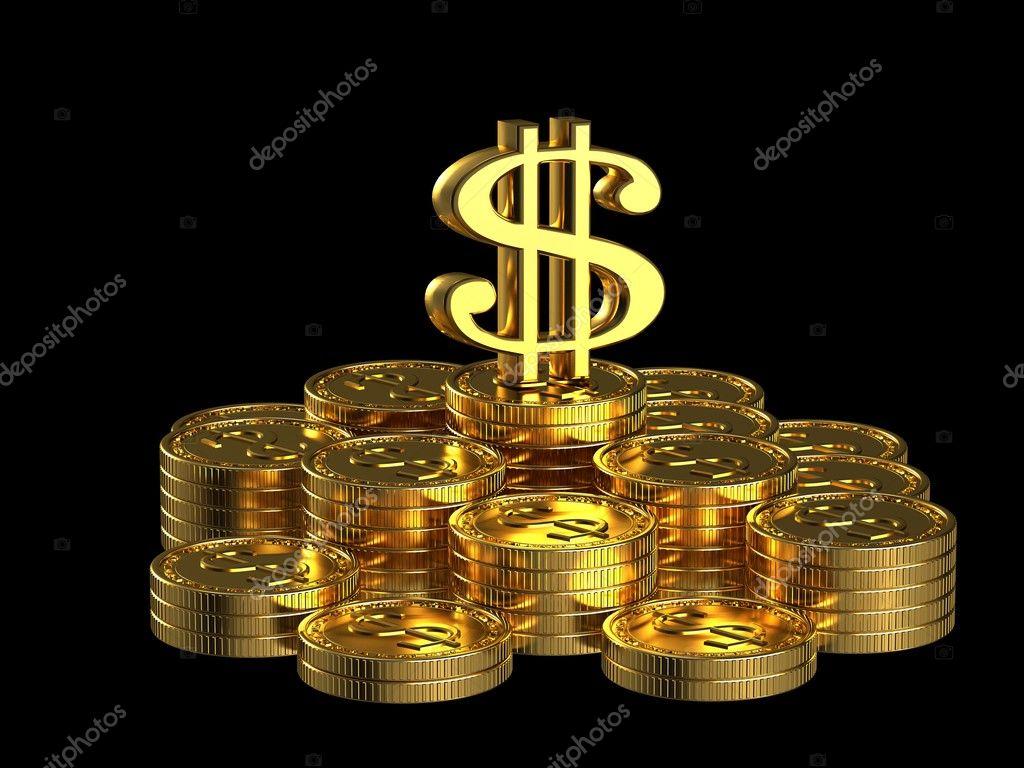 money sign wallpaper gold