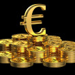 Stock Photo: Gold Euro coins