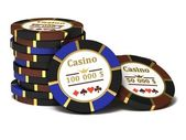 Casino chips. — Stock Photo