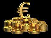 Gold Euro coins — Stock Photo