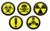 Icons with symbols of hazard. — Stock Photo