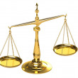 Classical gold scales — Stock Photo