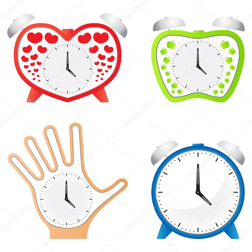 Clocks Different Shapes Stock Vector Astronom 5055459