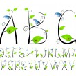 Floral alphabet - Stockvectorbeeld