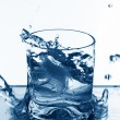 Vodka splash — Stockfoto