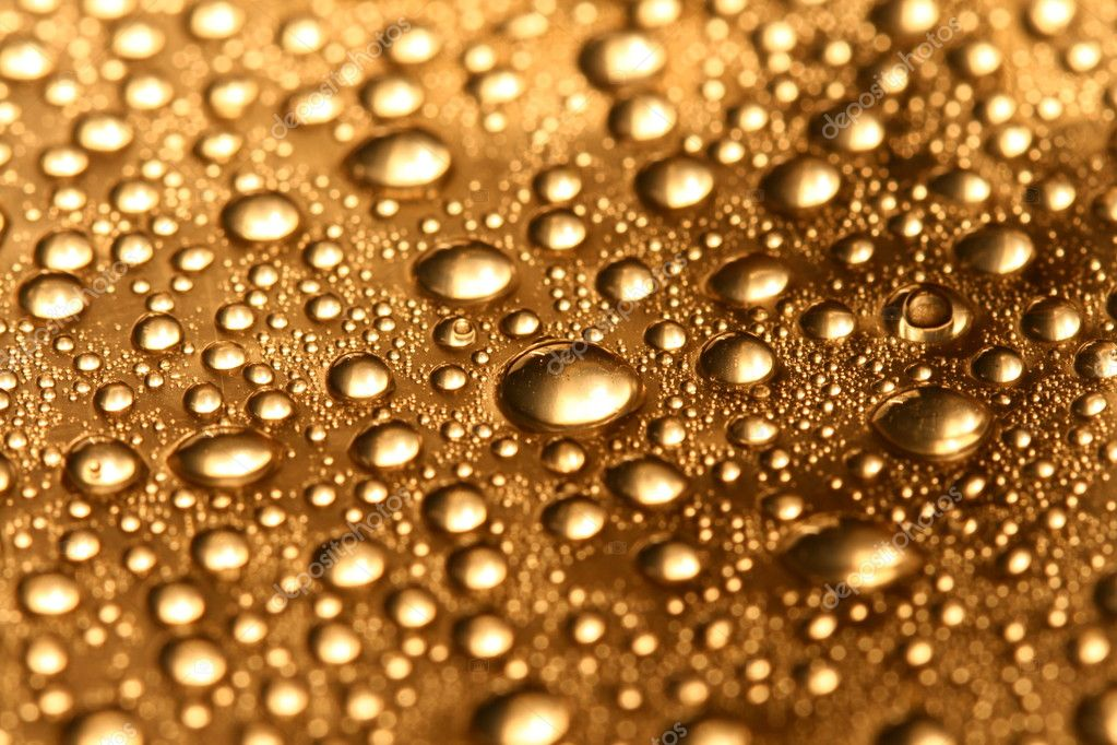 Clean shiny waterdrops macro background — Stock Photo #4764915