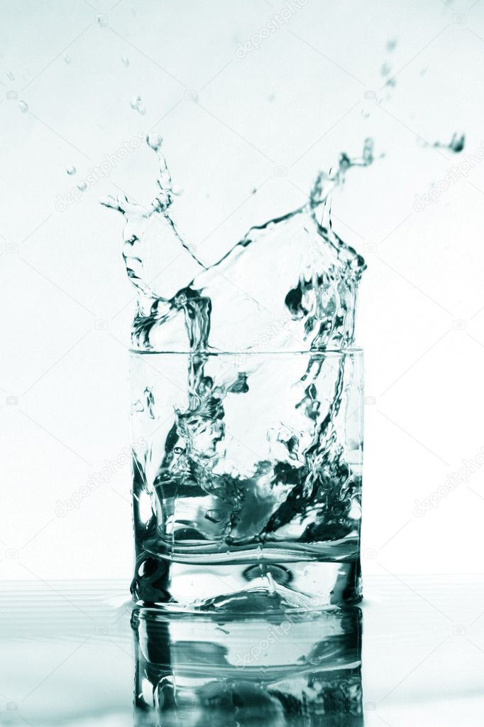 Vodka alcohol elegant splash bar background — Stock Photo #4937987