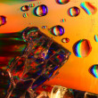 Colored water drops — Stock Photo