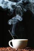 Hot morning coffee — Stock Photo