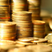 Monedas de oro — Foto de Stock