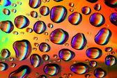 Las gotas de agua coloreada — Foto de Stock
