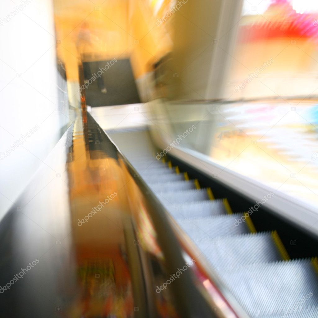 Blurred escalator abstract transportation background — Stock Photo #5194194