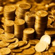 Golden coins — Stock Photo #5242439