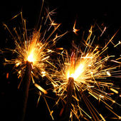Celebration sparklers — Stock Photo