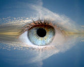 Eye in sky — Stock Photo