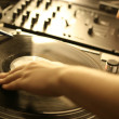 Dj hands — Stock Photo