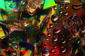 Farbige wassertropfen — Stockfoto