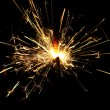 Yellow sparkler — Stock Photo