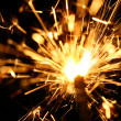 Stock Photo: Yellow sparkler