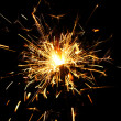 Yellow sparkler - Stockfoto