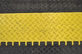 Black-yellow speed bumps Humps — Stock Photo